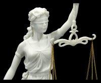 White Lady Justice Figurine - Justitia Goddess