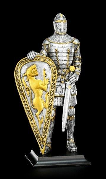 Ritter Figur mit Löwenschild