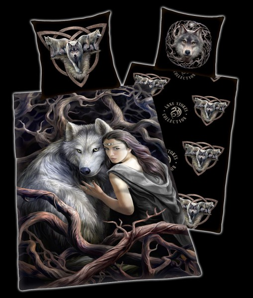 Anne Stokes Duvet Set with Wolf - Soul Bond