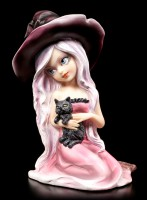 Witch Figurine - Rosa with Cat