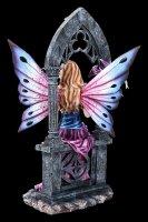 Elfen Figur - Shanya mit Drache im Torbogen