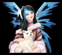 Winter Elfen Figur - Fiona mit Wolf Baby