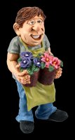 Funny Jobs Figur - Gärtner mit Blumen