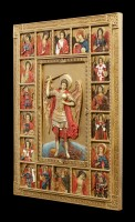 Wall Plaque Icon - Archangel Saint Michael - colored