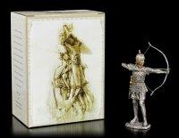 Zinn Ritter Figur mit Pfeil und Bogen