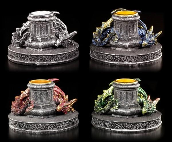 Drachen Kerzenhalter - 4er Set