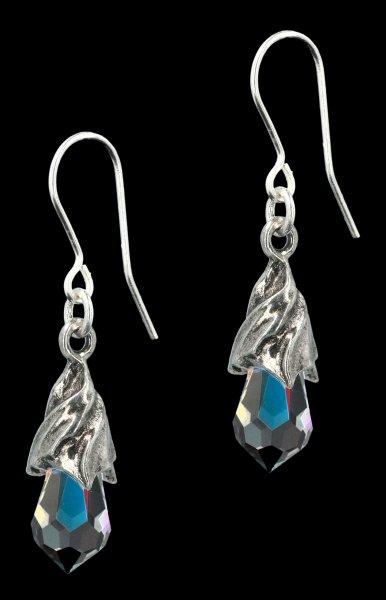 Alchemy Gothic Earrings - Empyrean Tear clear