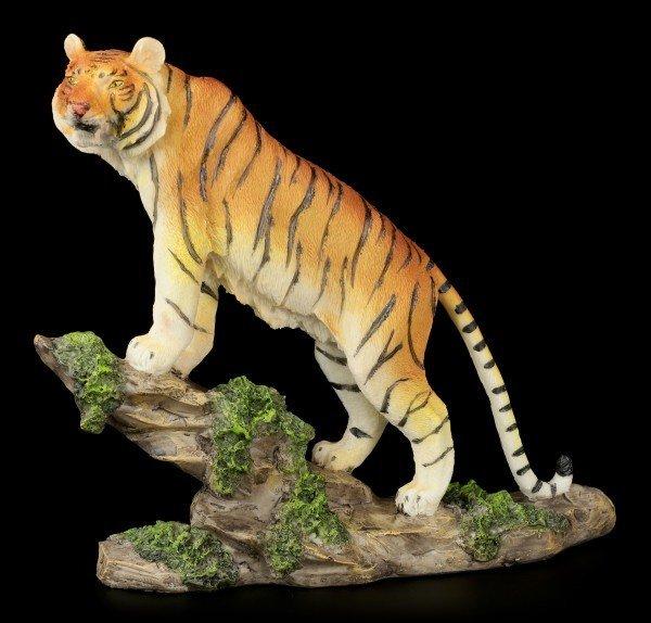 Tiger Figur - Stolz auf dem Felsen