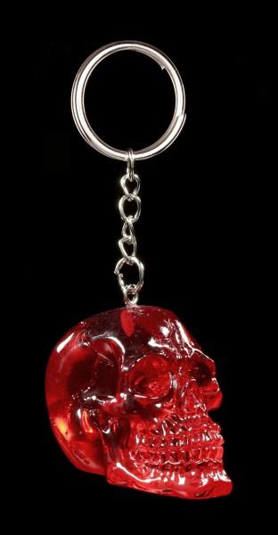 Totenkopf Schlüsselanhänger rot - Blood Skull