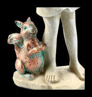 Elfen Figur - Waldelfe mit Eichhörnchen