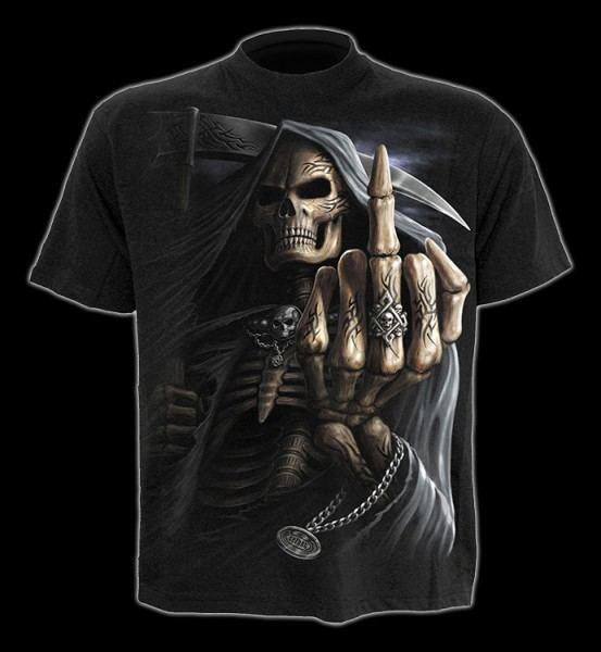 T-Shirt - Reaper Mittelfinger - Bone Finger