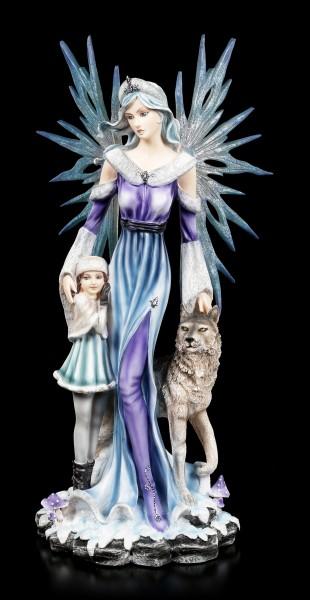 Elfen Figur - Cidra mit Kind und Wolf