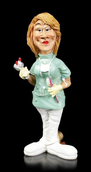 Funny Job Figur - Zahnärztin mit blutigem Zahn