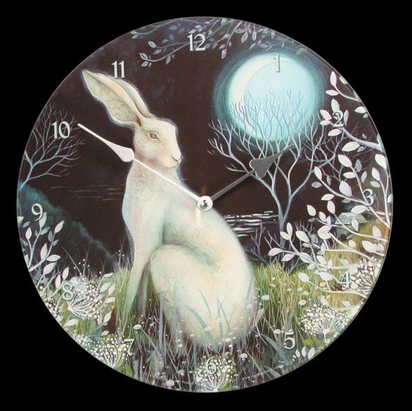 Glas Wanduhr Wicca - Mystic Knight