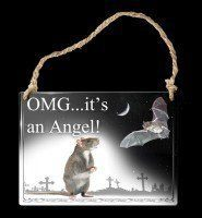 Alchemy Metal Sign small - Omg...It's An Angel!