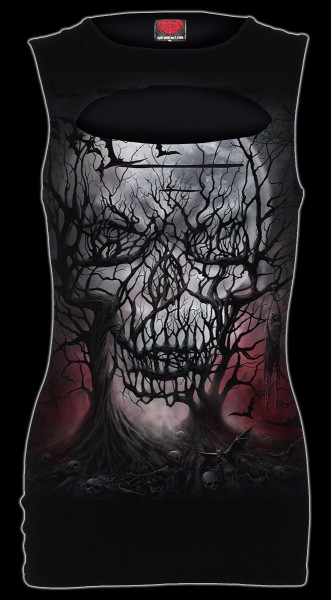 Preview: Dark Roots - Women Top with Skull