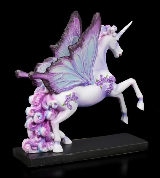 Unicorn Figurine - Lilac Butterfly