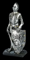 Knight Figurine with Lion Shield and Sword