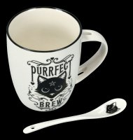 Mug with Spoon - Cat Purrfect Brew