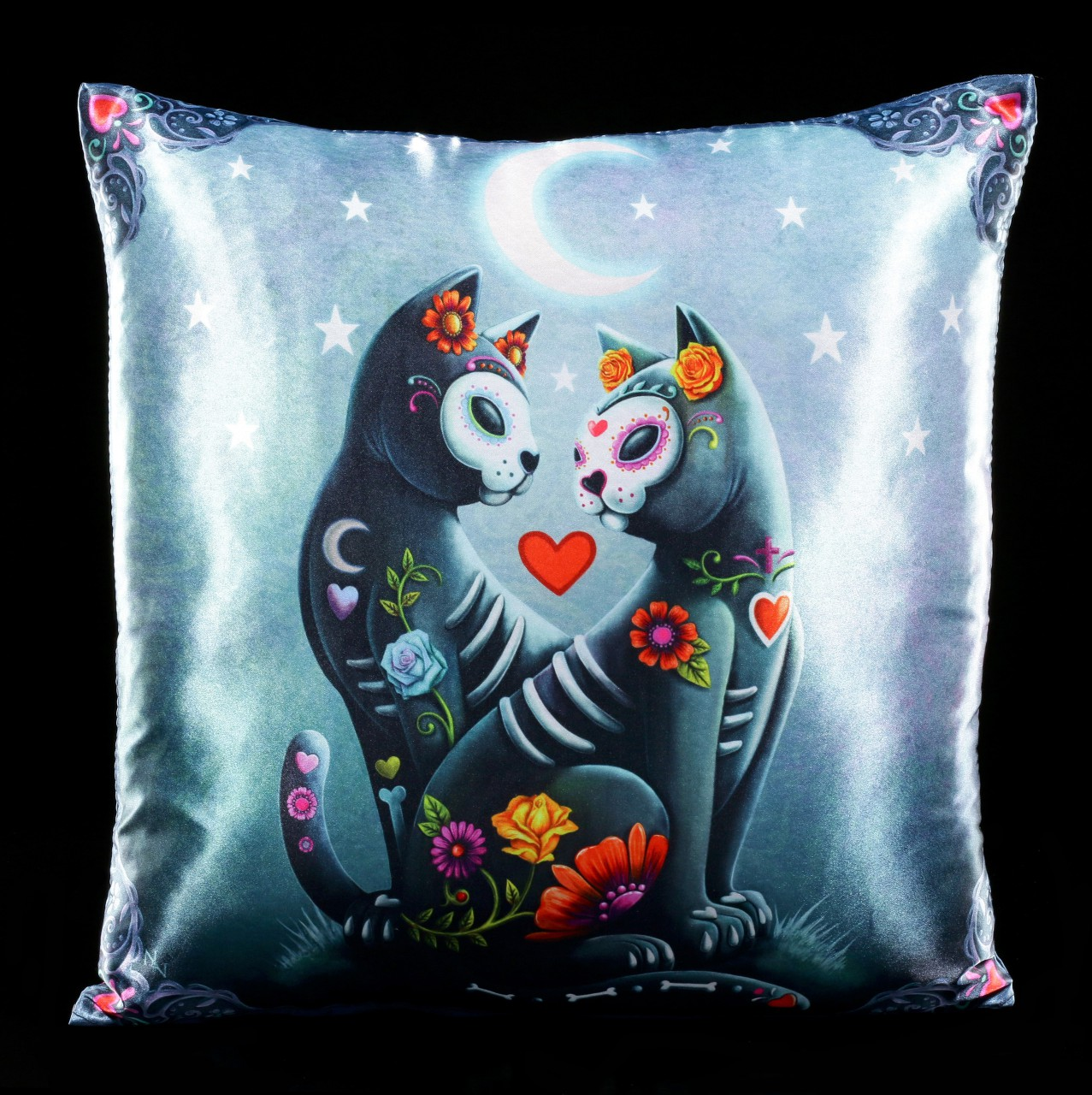 Cushion with Cats - Starry Night