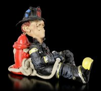 Funny Job Figurine - Firefighter is Sleeping