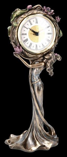 Art Nouveau Clock - Flower Woman
