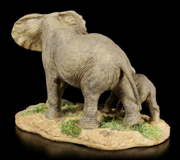 Elefanten Figur Familie - Mutter mit Kind