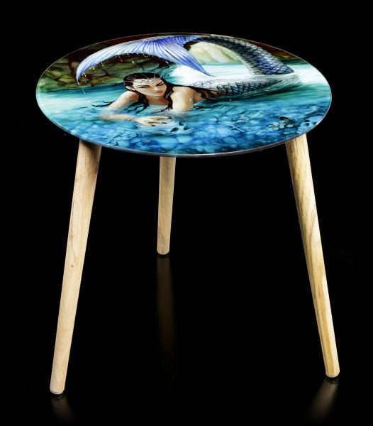 Side Table with Mermaid - Hidden Depths
