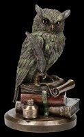 Owl Figurine - Sitting on Books