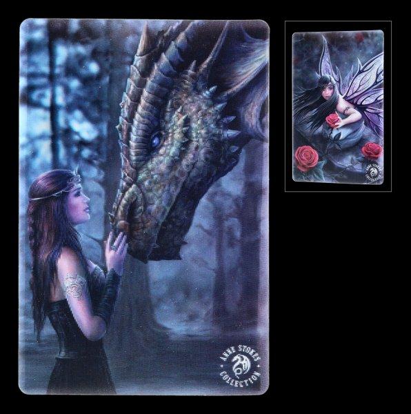 3D Postcard - Dragon & Fairy by Anne Stokes