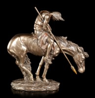 Indian Figurine on Horse - End of Trail