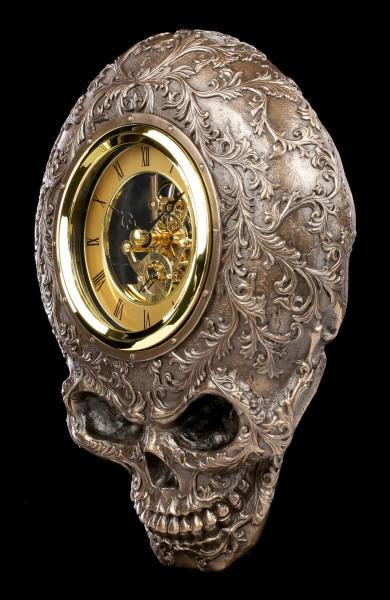 Skull Wall Clock - Baroque Death