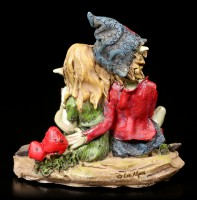 Pixie Figurine - Couple reading in a Book