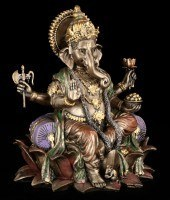 Ganesha - God of Purity - on Lotus FLower