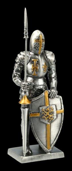 Zinnritter Figur - Templer mit Turnierlanze