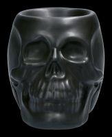 Duftlampe - Schwarzer Keramik Totenkopf