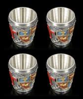 Medieval Shot Cups - Crest Set of 4