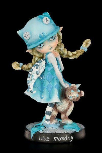Fairy Figurine with Teddy - Blue Monday