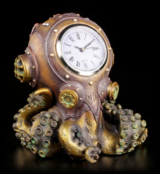 Steampunk Table Clock - Clocktopus