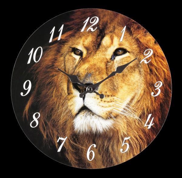 Wanduhr mit Löwenkopf