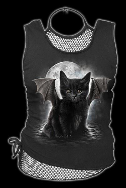 2in1 Netz Top mit Fledermaus-Katze - Bat Cat