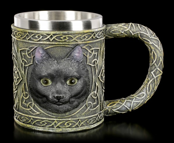 Celtic Tankard with black Cat