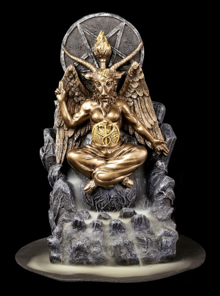 Backflow Incense Cone Holder - Baphomet