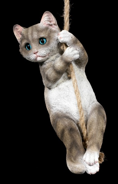 Garden Figurine - Cat on Rope
