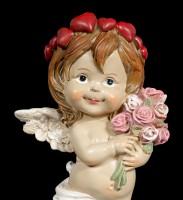 Cherub Figurine - Little Angel with Bouquet