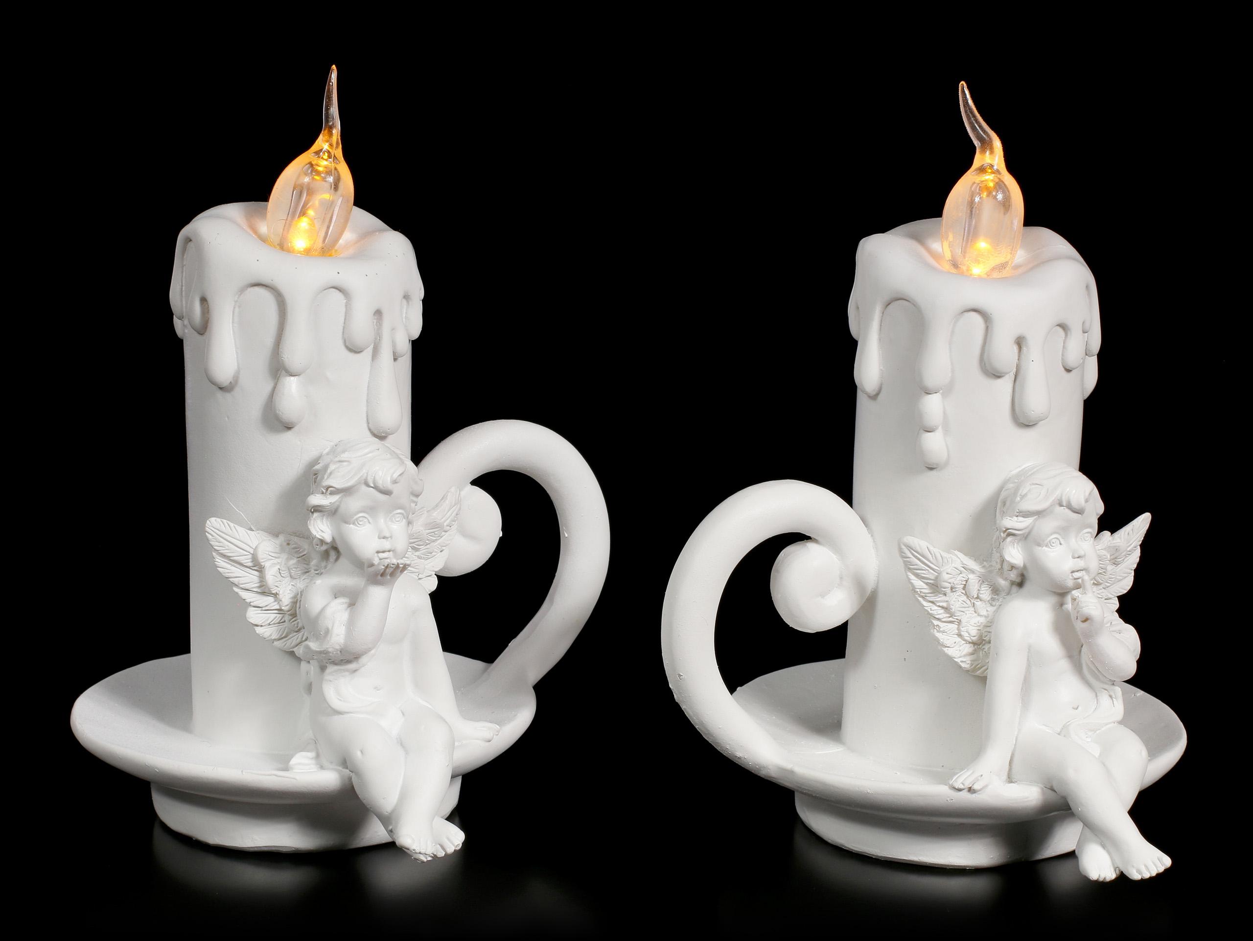 Kerzen Figuren.Cherubim Figuren Mit Led Kerzen 2er Set