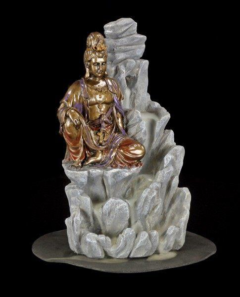Backflow Räucherkegelhalter - Buddha auf Fels