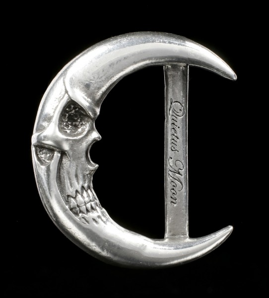 Alchemy Gothic Belt Buckle - Quietus Moon