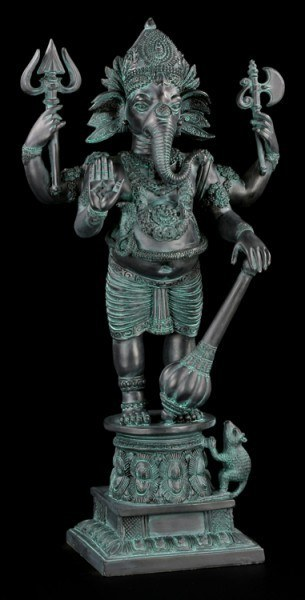 Gartenfigur - Ganesha im Antik-Look