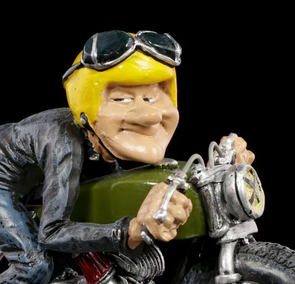 Funny Life Figurine - Biker with yellow Helmet